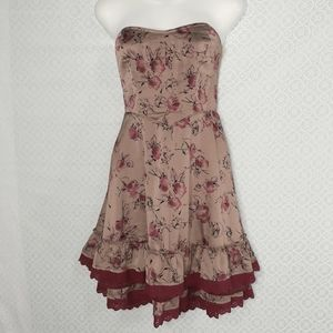 Free People Dirty Dancing Floral Strapless Dress